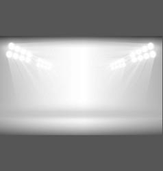 bright stadium arena lights on white background vector image