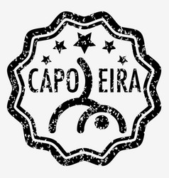 capoeira grunge rubber stamp vector image