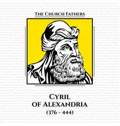 Church fathers cyril alexandria vector