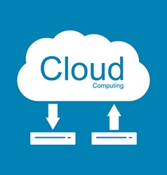 Cloud computing concept Modern design template vector image