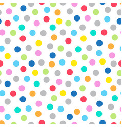 colorful seamless pattern with dots vector image