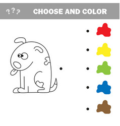 coloring page for kids dog vector image