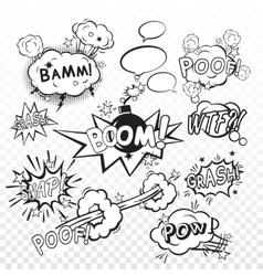 Comic boom set vector