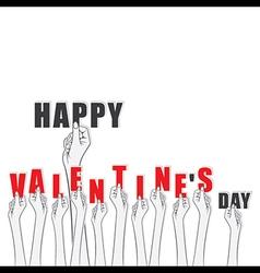 Creative valentines day banner or sticker design vector