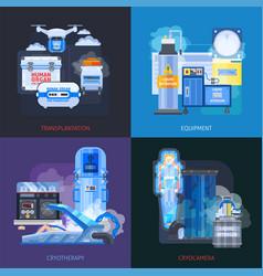 Cryotherapy transplantation design concept vector