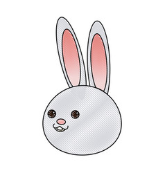 cute cartoon rabbit wildlife animal speed vector image
