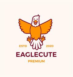 cute eagle cartoon logo icon vector image