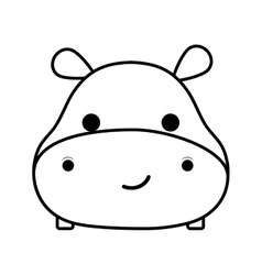 cute hippopotamus isolated icon vector image