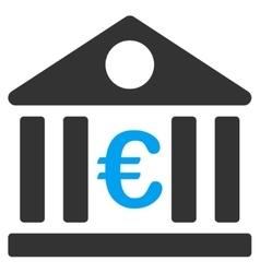 Euro Bank Icon vector