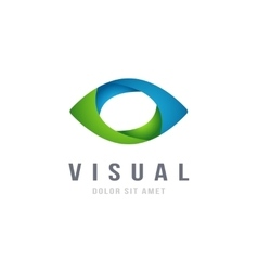 Eye Logo abstract colorful design template vector image