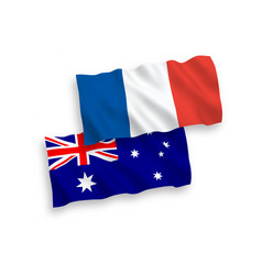 flags of france and australia on a white vector image