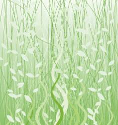 Floral graphic grass vector