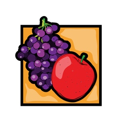fresh fruits vector image