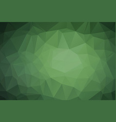 Geometrical background with triangles dark green vector