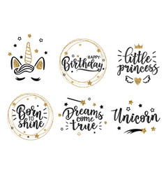 gold greeting set vector image