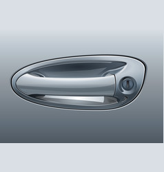 gray car door handle vector image