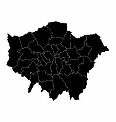 Greater london silhouette map vector