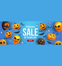 halloween sale banner design vector image