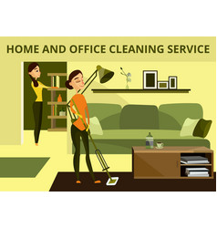 Home and office cleaning service concept vector