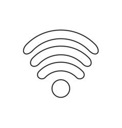 icon flat design internet wi fi symbol vector image
