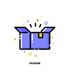 icon open carton package box for shopping concept vector image