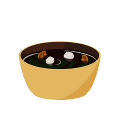 Japanese food miso soup asian meal vector