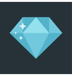 Jewelry diamond stone vector image
