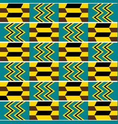 Kente nwentoma cloth style seamless pattern vector