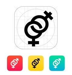 Lesbian icon vector image