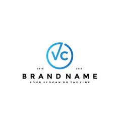 Letter vc logo design vector