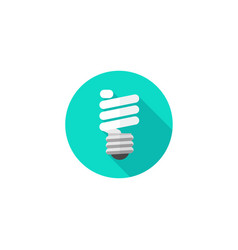 light bulb icon flat cartoon vector image
