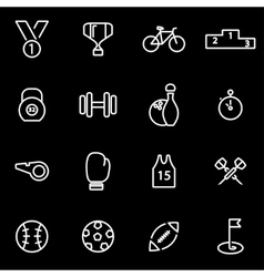 Line sport icon set vector