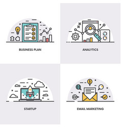 linear design concepts and icons vector image
