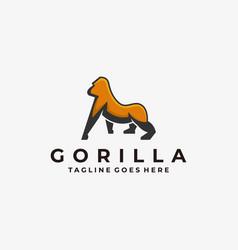 logo gorilla mascot cartoon vector image