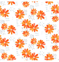 marguerite daisy seamless pattern vector image