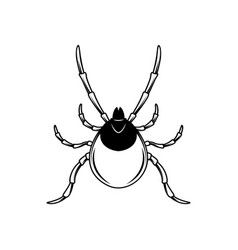 Mite in engraving style design element vector