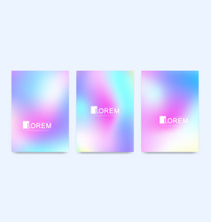 modern set templates hologram gradient vector image