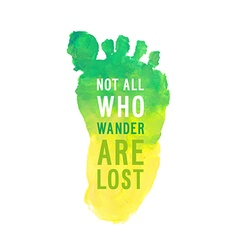 Motivation poster who wander are lost vector