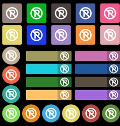 No parking icon sign Set from twenty seven vector image
