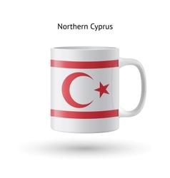 Northern Cyprus flag souvenir mug on white vector