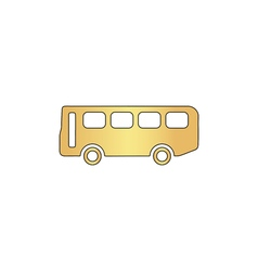 Old bus computer symbol vector