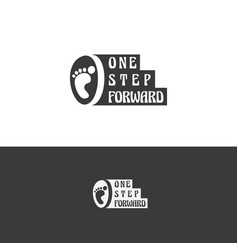 One step forward logo design vector