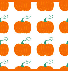 Pumpkin seamless pattern harvest concept isolated vector