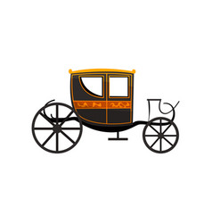 Retro carriage antique vehicle vector