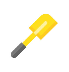 Rubber spatula bakery and cooking equipment flat vector