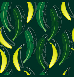 seamless background with banana vector image