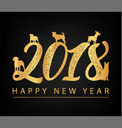 set of chinese zodiac - dogs 2018 new year symbol vector image