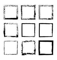set of square frames drawn 1 vector image