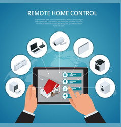 Smart house and internet things concept vector