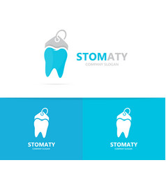 Tooth and tag logo combination dental vector